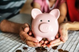 Man Woman Money Piggybank