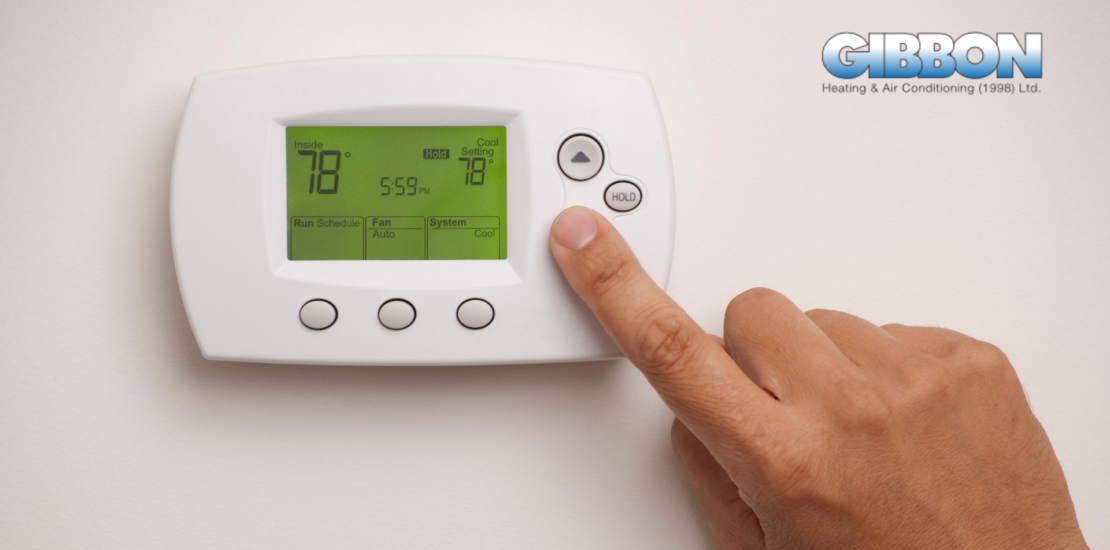 Person using Programmable and Smart Thermostat